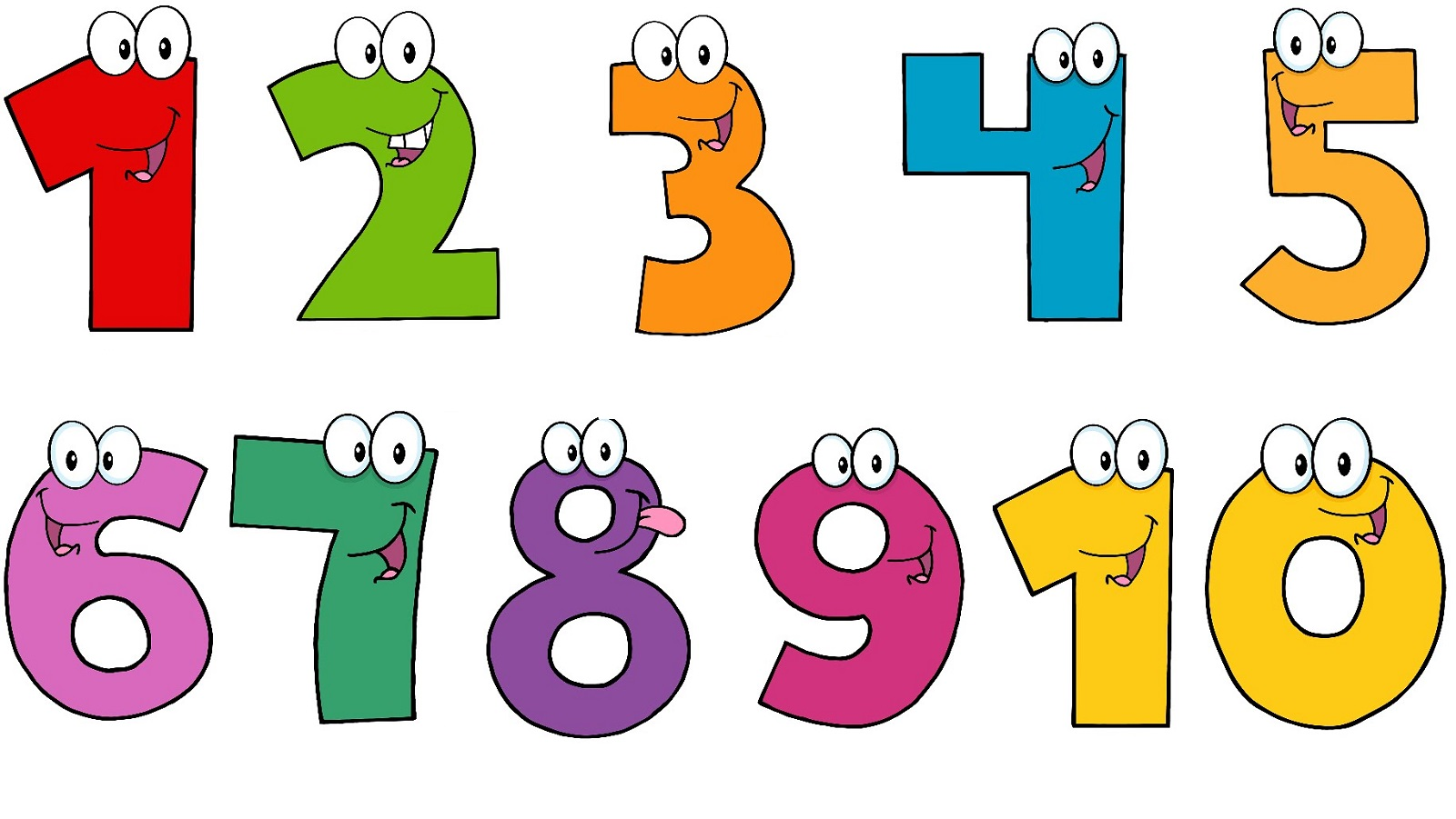 1600x901 Numbers 1 To 10 Clipart