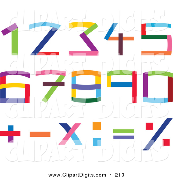 600x620 Vector Clip Art Of Colorful Numbers And Math Symbols By Yayayoyo