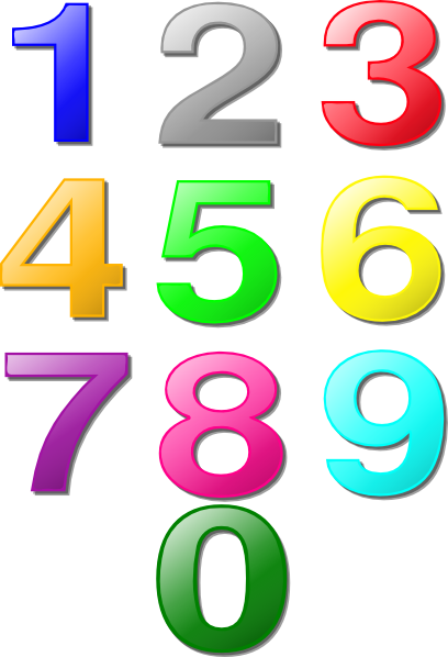 408x598 Colorful Numbers Clip Art Free Vector 4vector