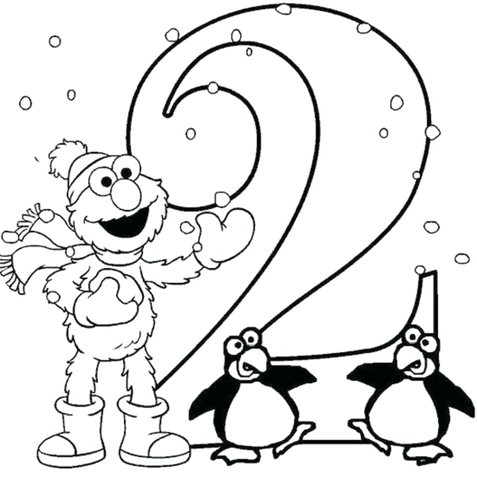 960x960 Download Number Coloring Pages 30 Inspiring Numbers Page 1 100