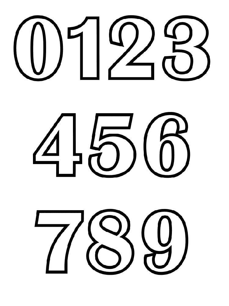 750x1000 123 Numbers Coloring Pages. Download And Print 123 Numbers