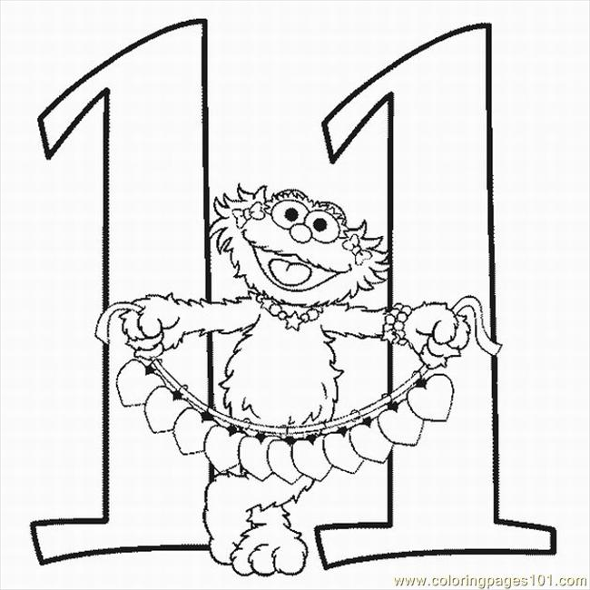 650x650 Numbers Coloring Pages 11 Lrg Coloring Page