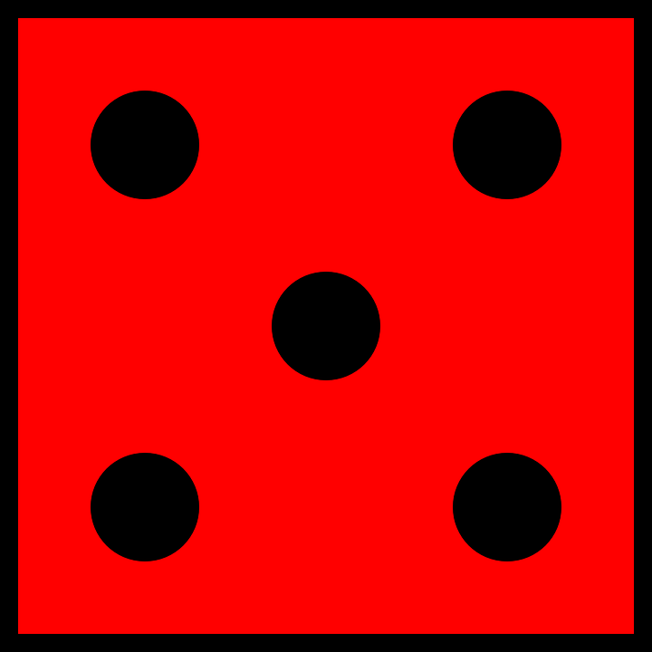 720x720 Dice Clipart Number Five