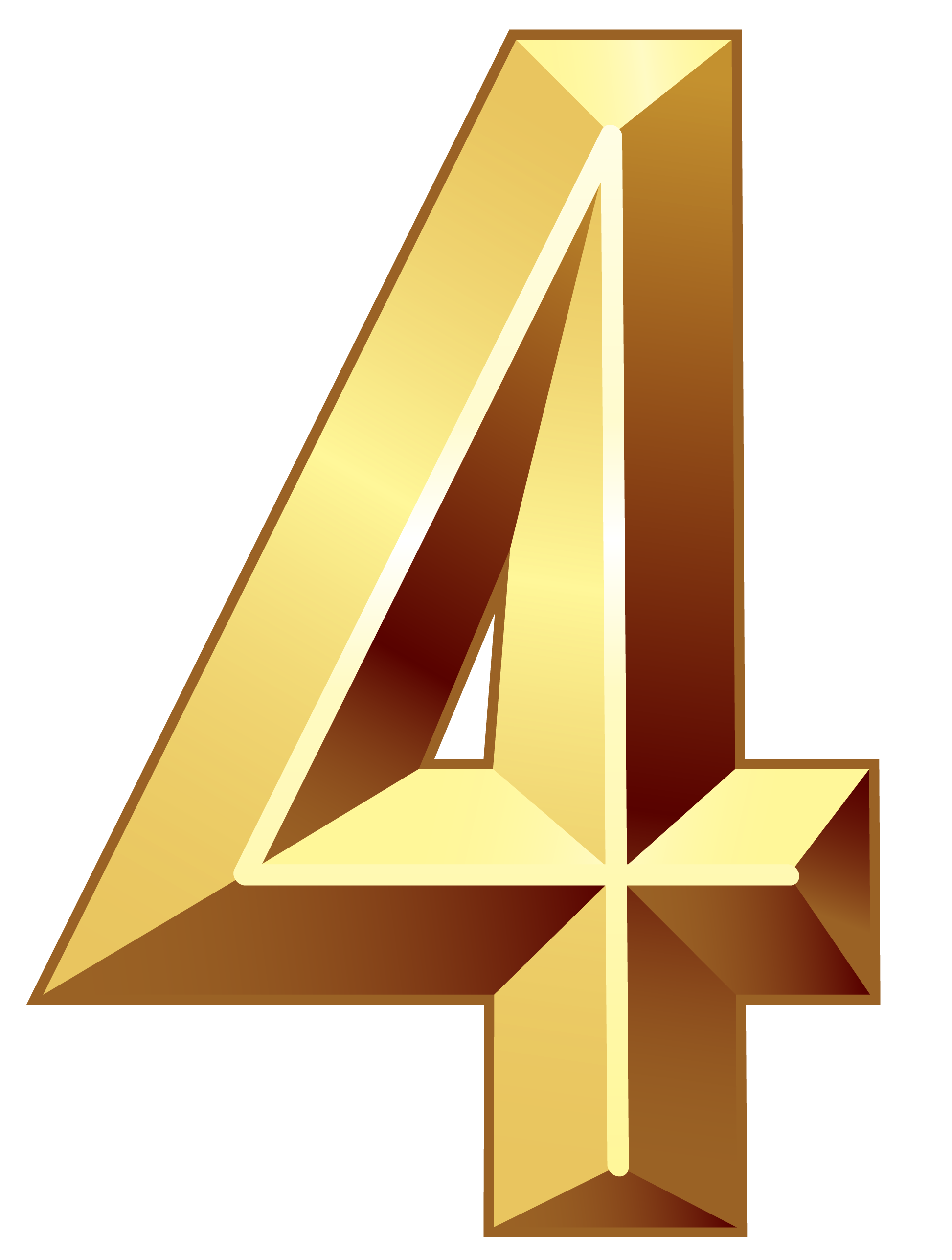 1946x2575 Gold Number Four Png Clipart Imageu200b Gallery Yopriceville