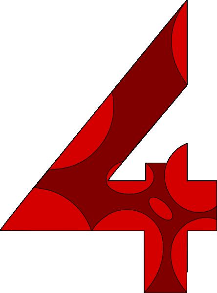 444x598 Number Four 4 Clip Art