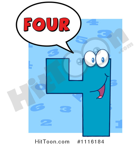 450x470 Number Four Clipart