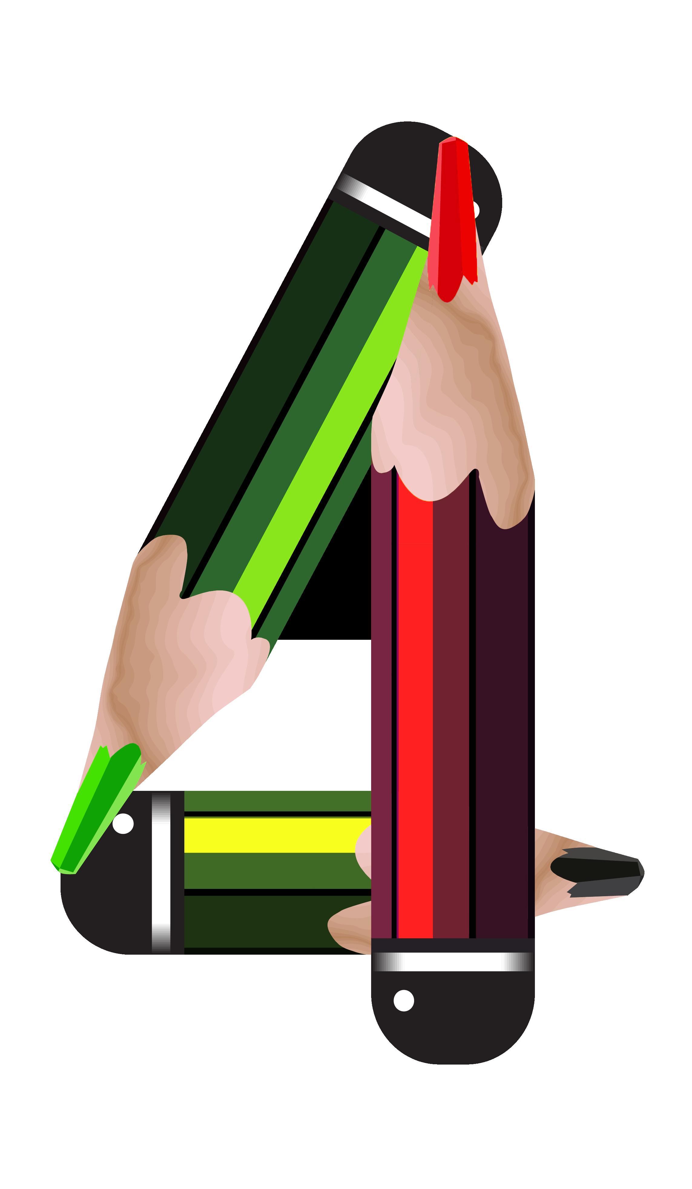 2286x3927 Pencil Clipart Four