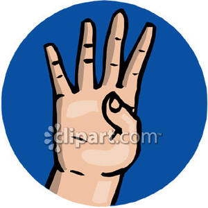300x300 Sign Language Number 4