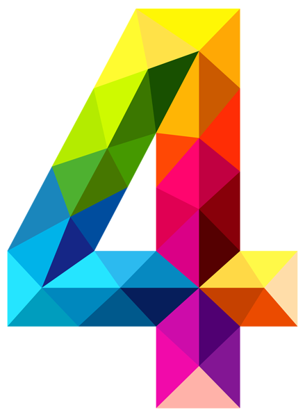 439x600 Colourful Triangles Number Four Png Clipart Image Steder Jeg Vil