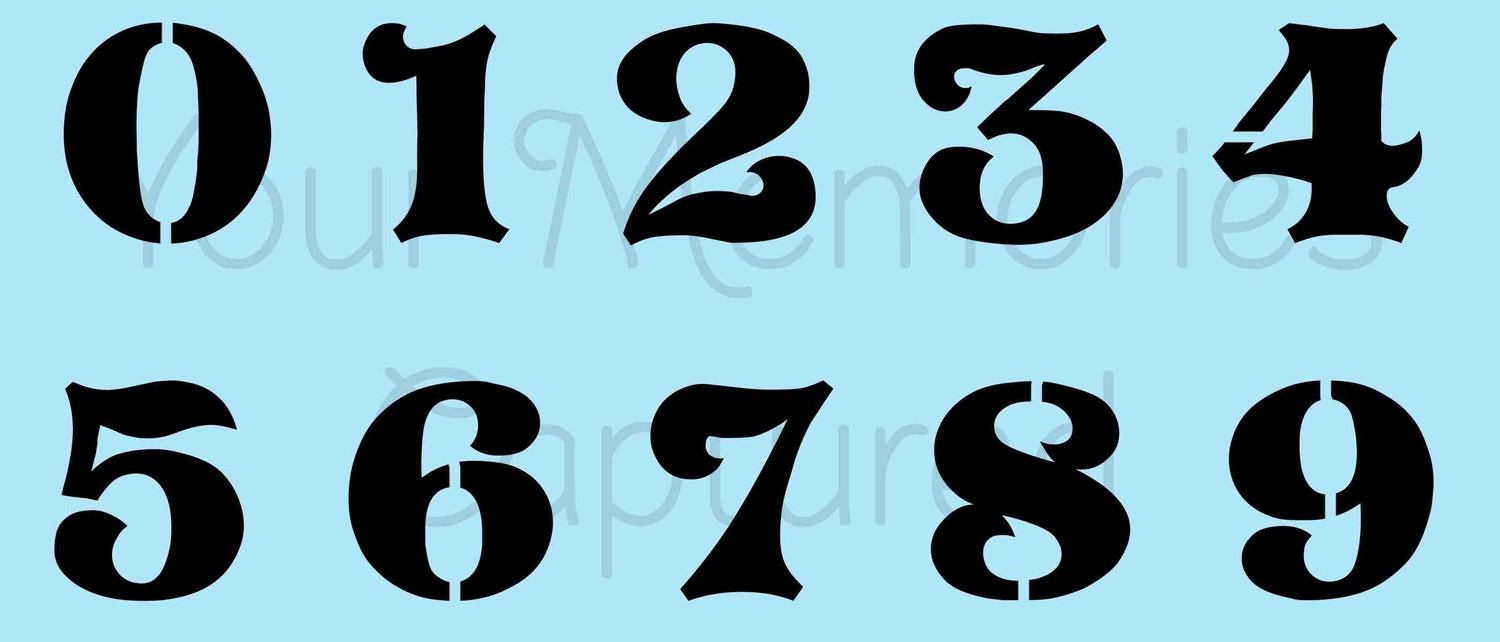 Number Images | Free download on ClipArtMag Old English Numbers Printable Free