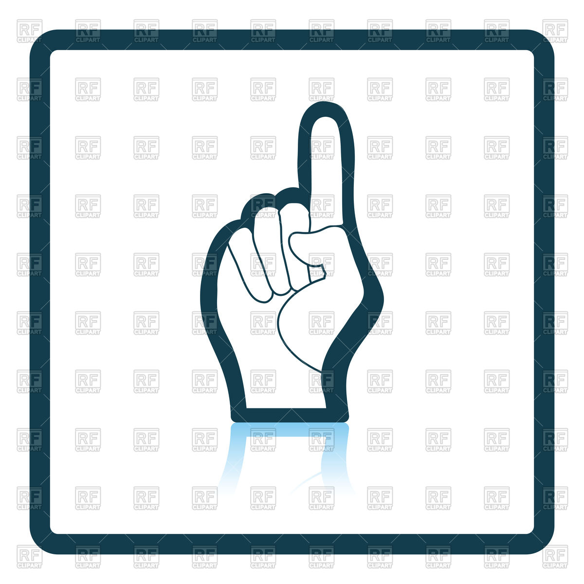 1200x1200 Fan Foam Hand With Number One Gesture Icon Royalty Free Vector