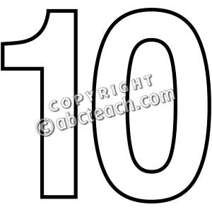 300x300 Clipart Numbers 10