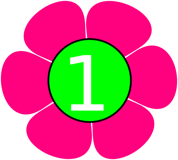 600x541 1 Pink Green Flower Clip Art