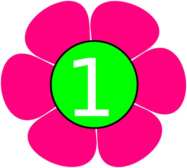 600x541 1 Pink Green Flower Clip Art