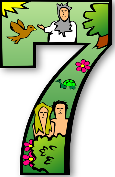 384x591 Creation Days Numbers 7 Clip Art