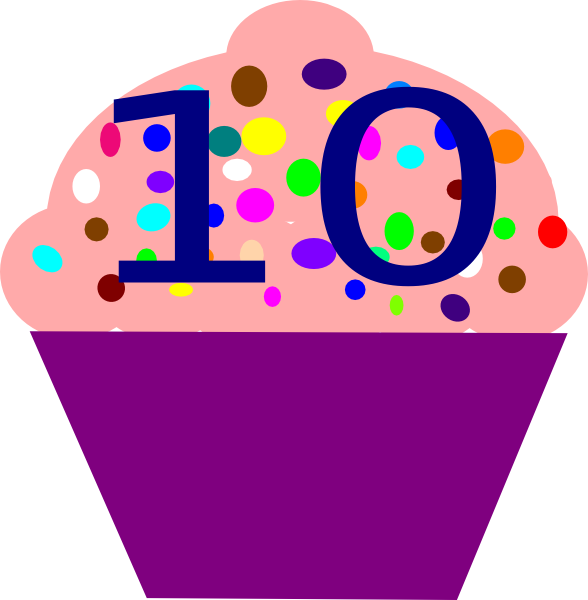 588x600 Cupcake 10 Clip Art