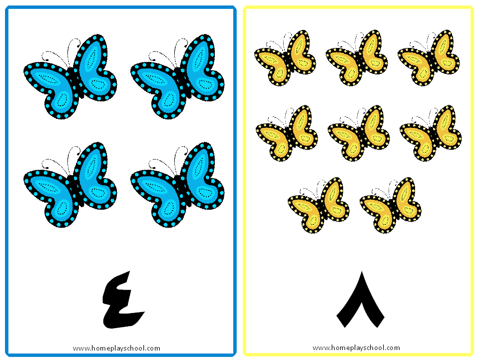 959x725 Free Printable Arabic Numbers 1 10 Butterfly Themed Tracing Cards