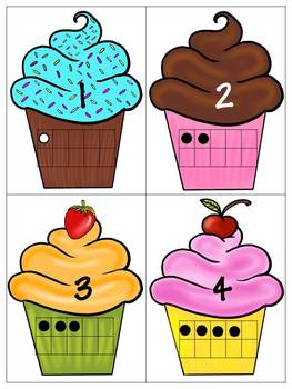 263x350 Here#39s a cupcake themed activity for matching numerals to ten