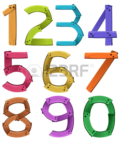 383x450 Illustration Of A Set Of Number 1 To 10 Royalty Free Cliparts