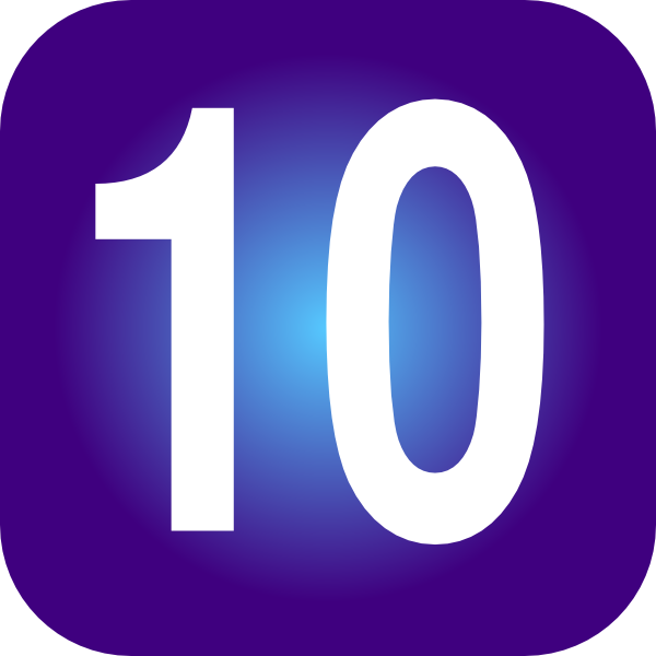 600x600 Number 10 Clipart