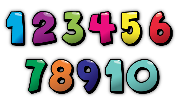 595x350 Numbers 1 10 Clip Art