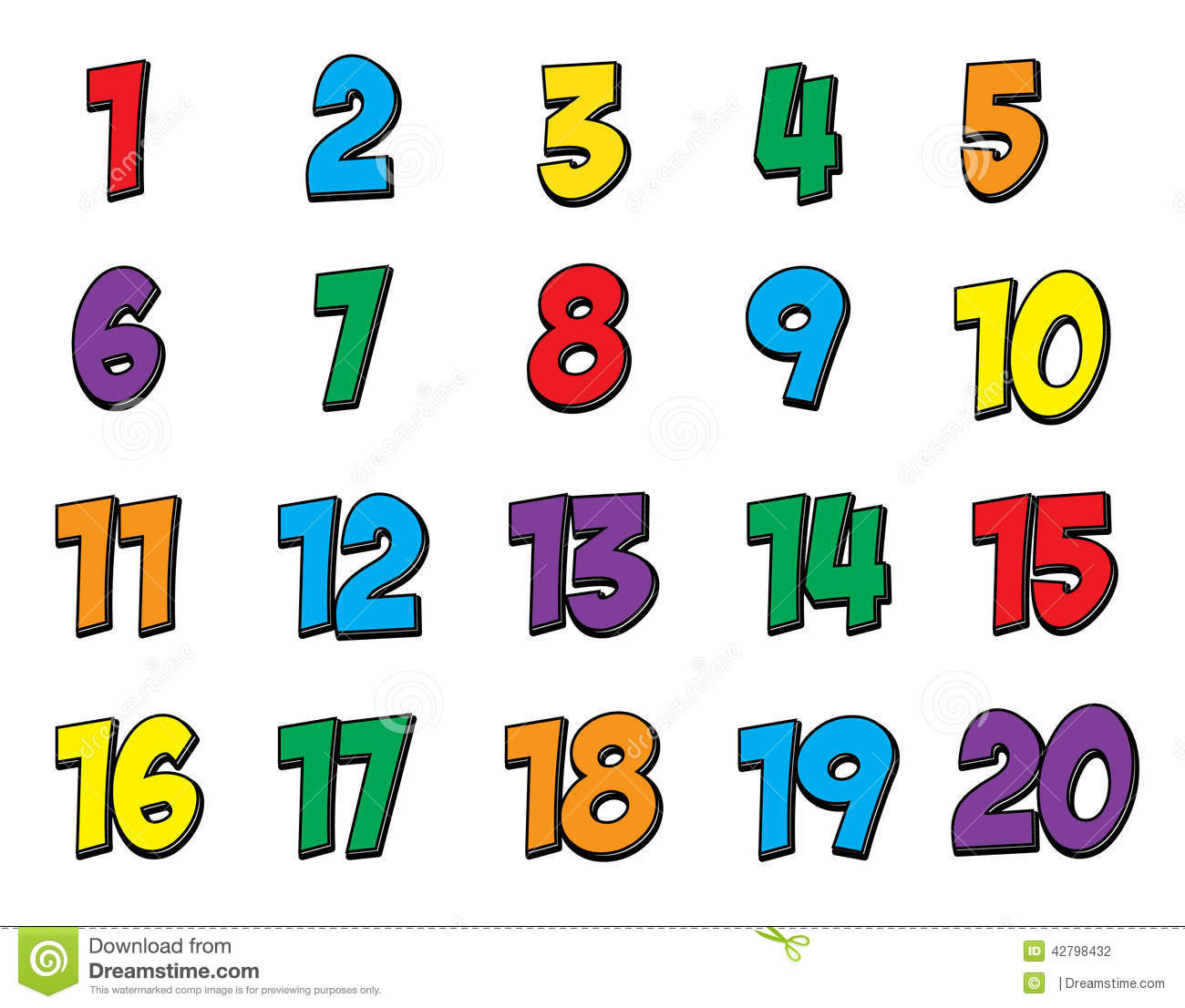 1300x1106 Clip Art Of Numbers From 1 To 20 Clipart