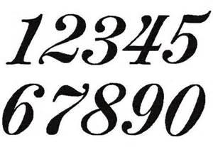 300x207 Script Numbers Clipart