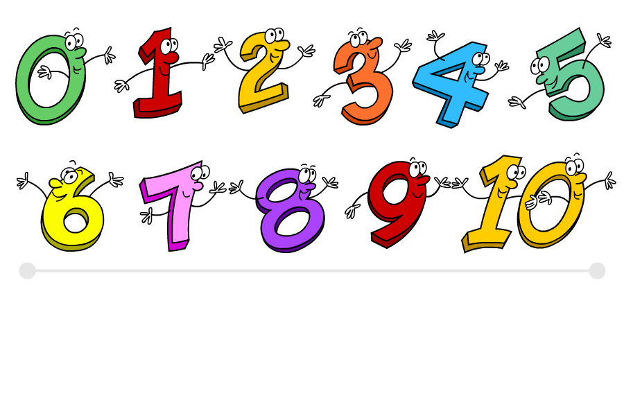 Numbers 1 To 10 Clipart