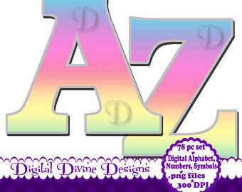 340x270 Alphabet Clip Art Etsy