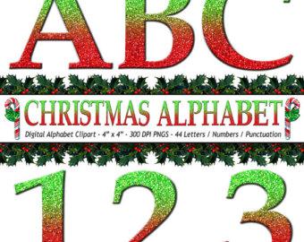 340x270 Christmas Clip Art Alphabet Letters