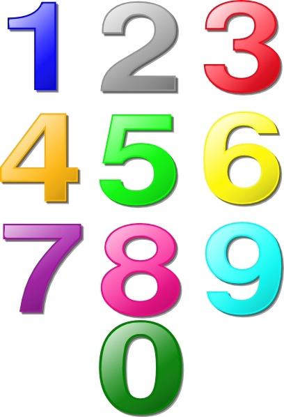 408x598 Colorful Numbers Clip Art Free Vector In Open Office Drawing Svg