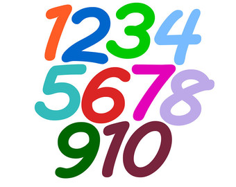 340x270 Free Clip Art Numbers 1 10