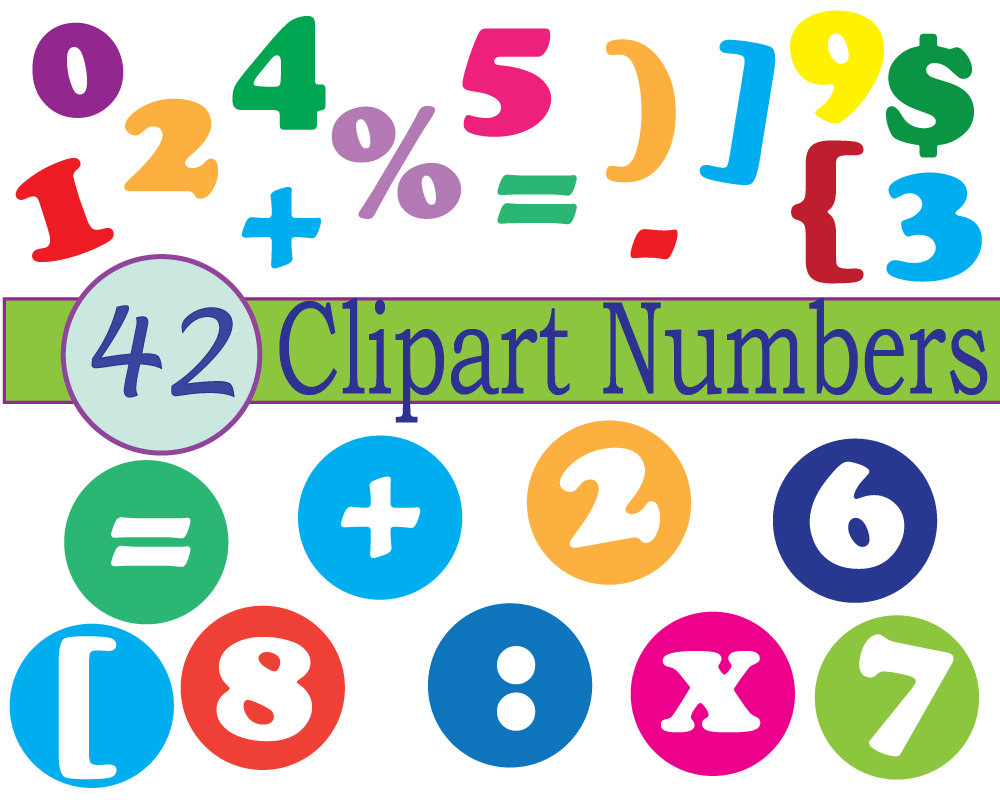 1000x800 Instant Download Numbers Clip Art Scrapbooking Numbers Math