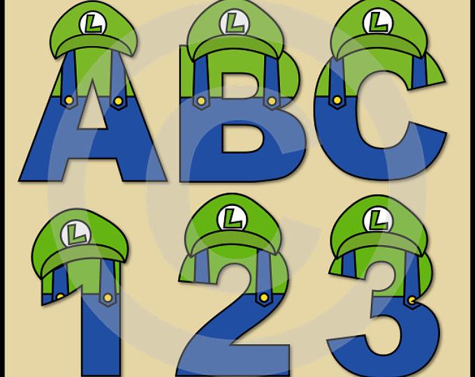 680x540 Luigi (Super Mario Brothers) Alphabet Letters Amp Numbers Clip Art