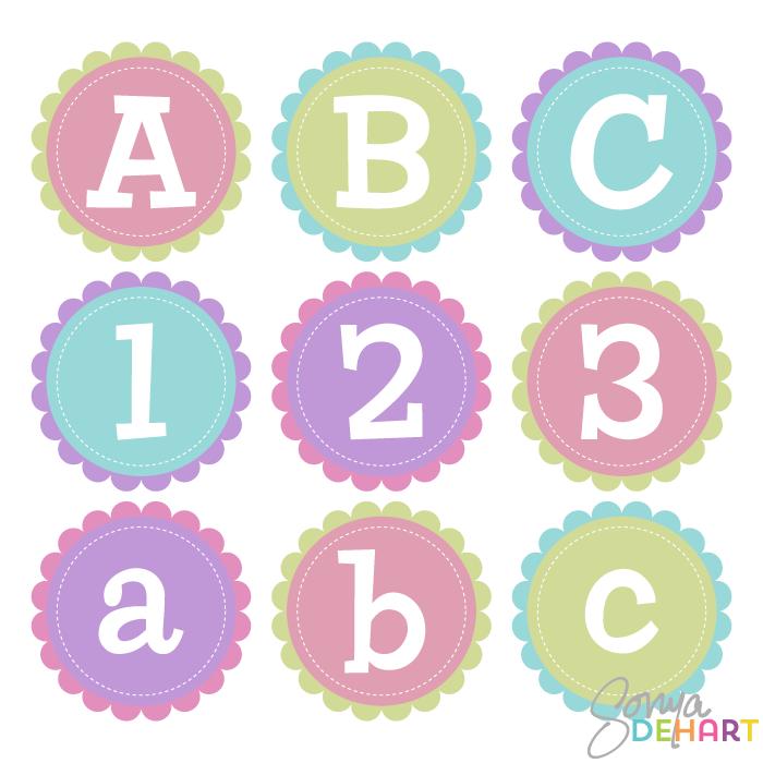 700x700 Vector Clip Art Circle Scallop Alphabet