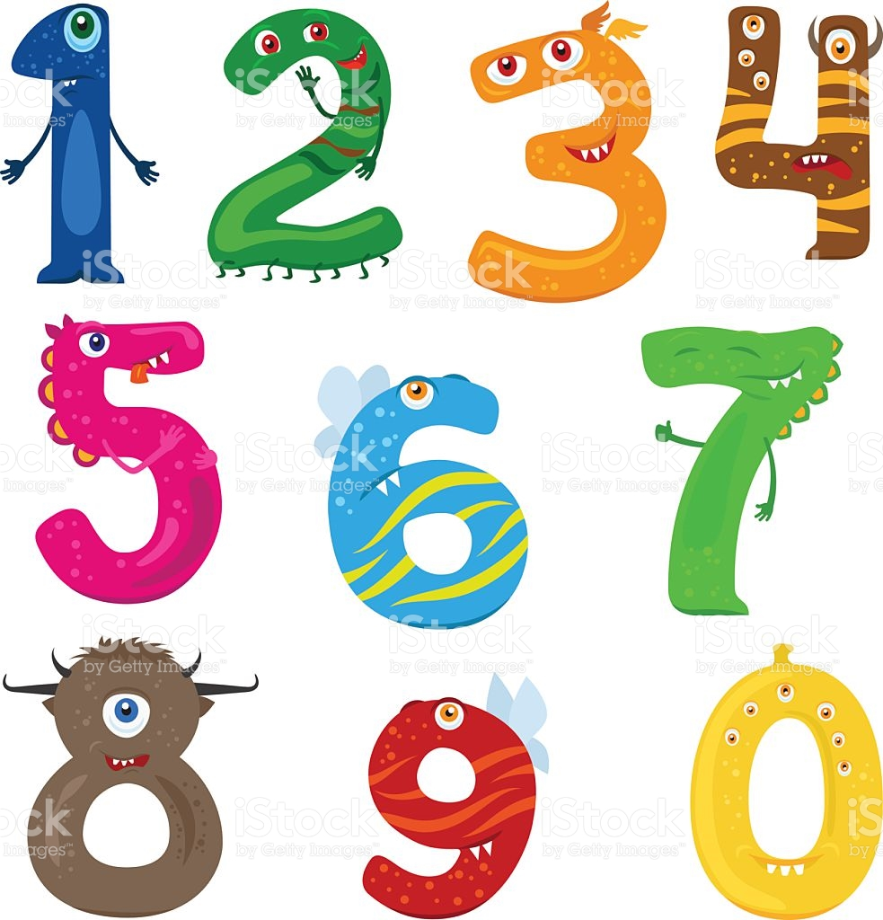 983x1024 Monster Numbers Clipart