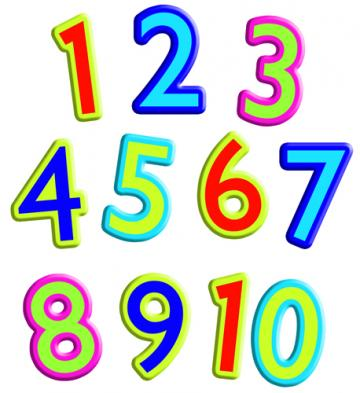 360x393 Numbers 1 clipart