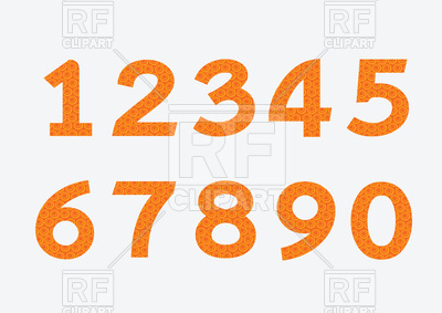 400x283 Orange Numbers Royalty Free Vector Clip Art Image