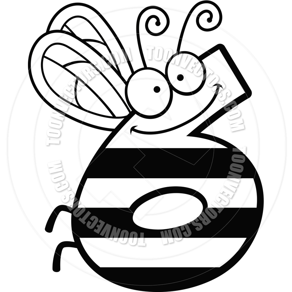 940x940 Cartoon Number Six Bug (Black And White Line Art) By Cory Thoman