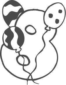 227x289 Free Black And White Birthday Clip Art Clipart Panda