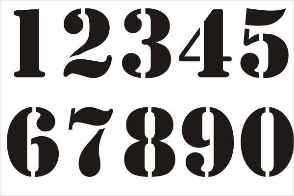 600x400 Number Stencils