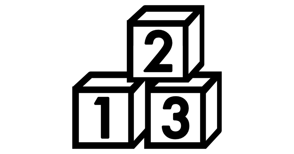 1200x630 Toy Clipart Number Block