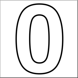304x304 Clip Art Number Set 1 00 Outline I Abcteach