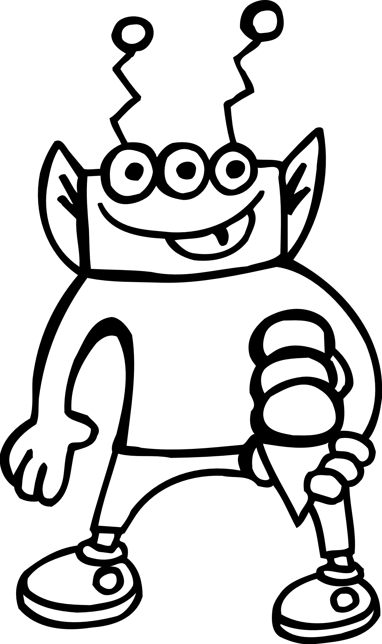 1331x2244 Alien Clipart Black And White