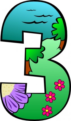 252x425 Clip Art Numbers 1 Clipart Clipart Kid 2 Image