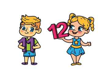 350x270 Kids With Numbers, Kids Holding Numbers Clipart 11 To 20 Tpt