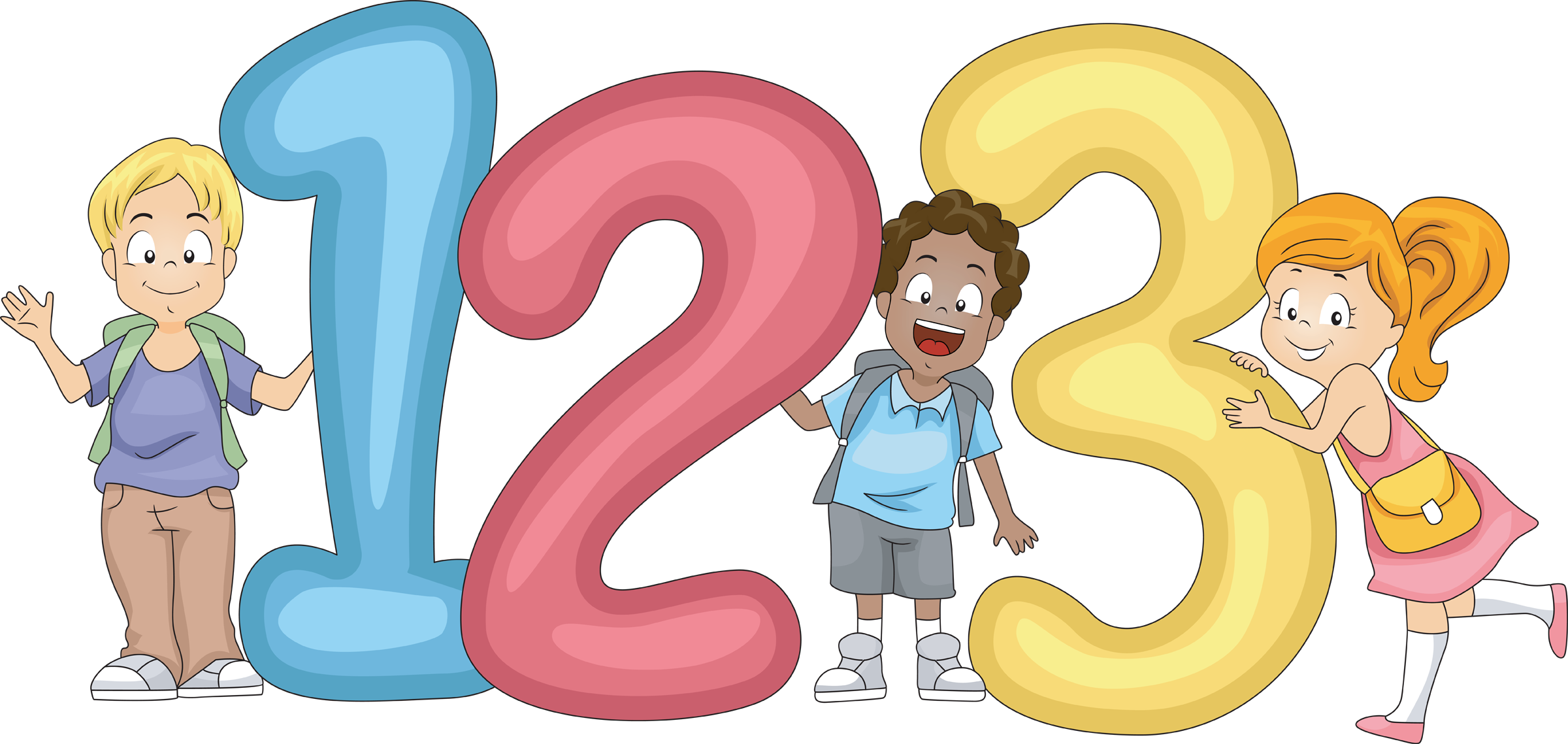 2400x1139 Number Clipart For Kid Png