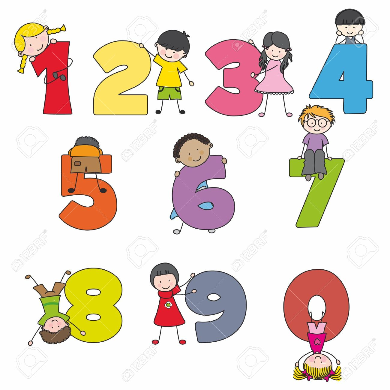 1300x1300 Numbers Clipart For Kids