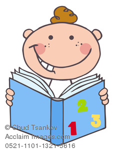 232x300 Clip Art Picture Of A Boy Reading From A Math Book