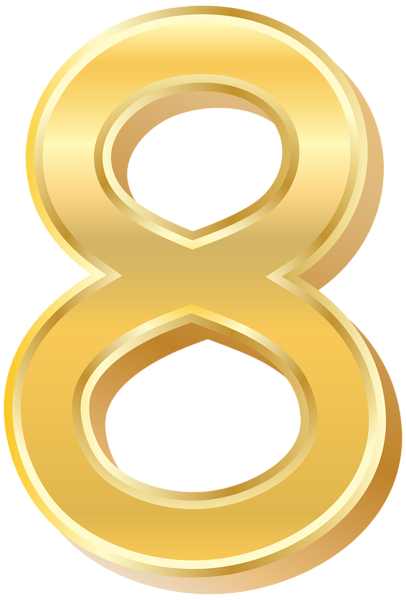 406x600 Gold Style Number Eight Png Clip Art Imageu200b Gallery Yopriceville